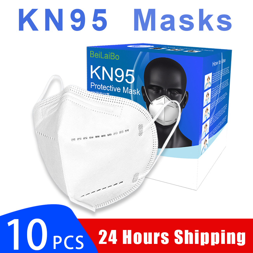 N95 5 Layers Mask Antivirus Flu Anti Infection KN95 Masks Particulate Respirator PM2.5 Professional Protective Level In Spot