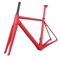 Super light pink paint road bike frames hight modulus Toray carbon t1000 all Internal cable bicycle frame FM066