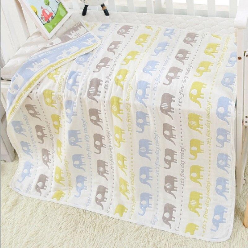 Купить с кэшбэком Children Cotton Bath Towel Newborn Muslin Super Soft Baby Blanket Swaddling Kids Infant Bath Shower Towel Wrap 80*80cm Baby Wrap