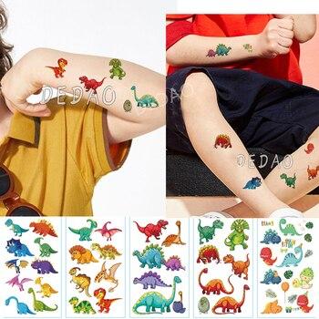 10pcs Temporary Tatoo Kids Fake Tattoo Sticker Dinosaur Cartoon Animal Hand Foot Waterproof Tattoos Tatouage For Children Boy