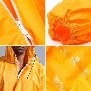 Image 4 - Combinaison imperméable à capuche de pluie, vêtements de travail, anti poussière, Spray de peinture, manteau de pluie unisexe, combinaison de sécurité, S XXXL