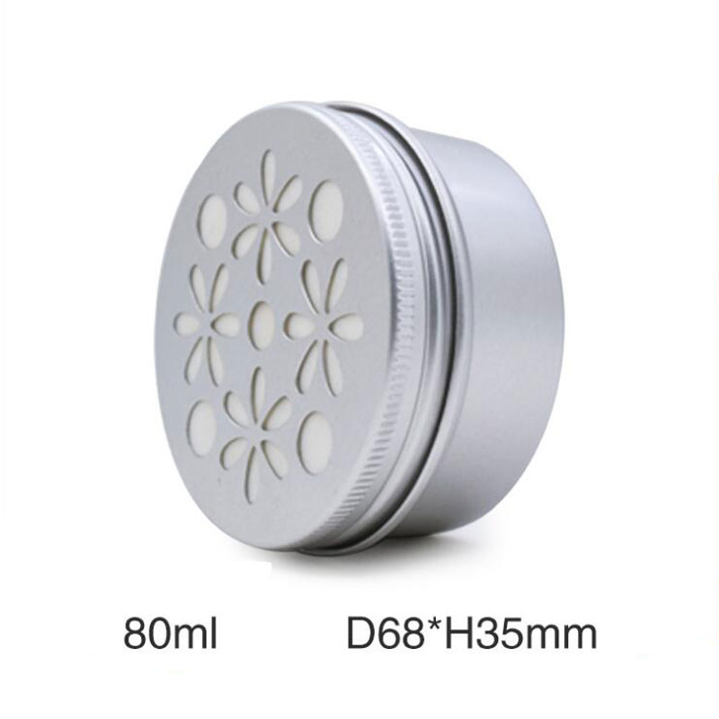 80ml Cosmetic Cream Jar Pot Air Freshener Cosmetic Packaging Container Aromatherapy Perfume Hollow Screw Thread Lid 50pcs/lot