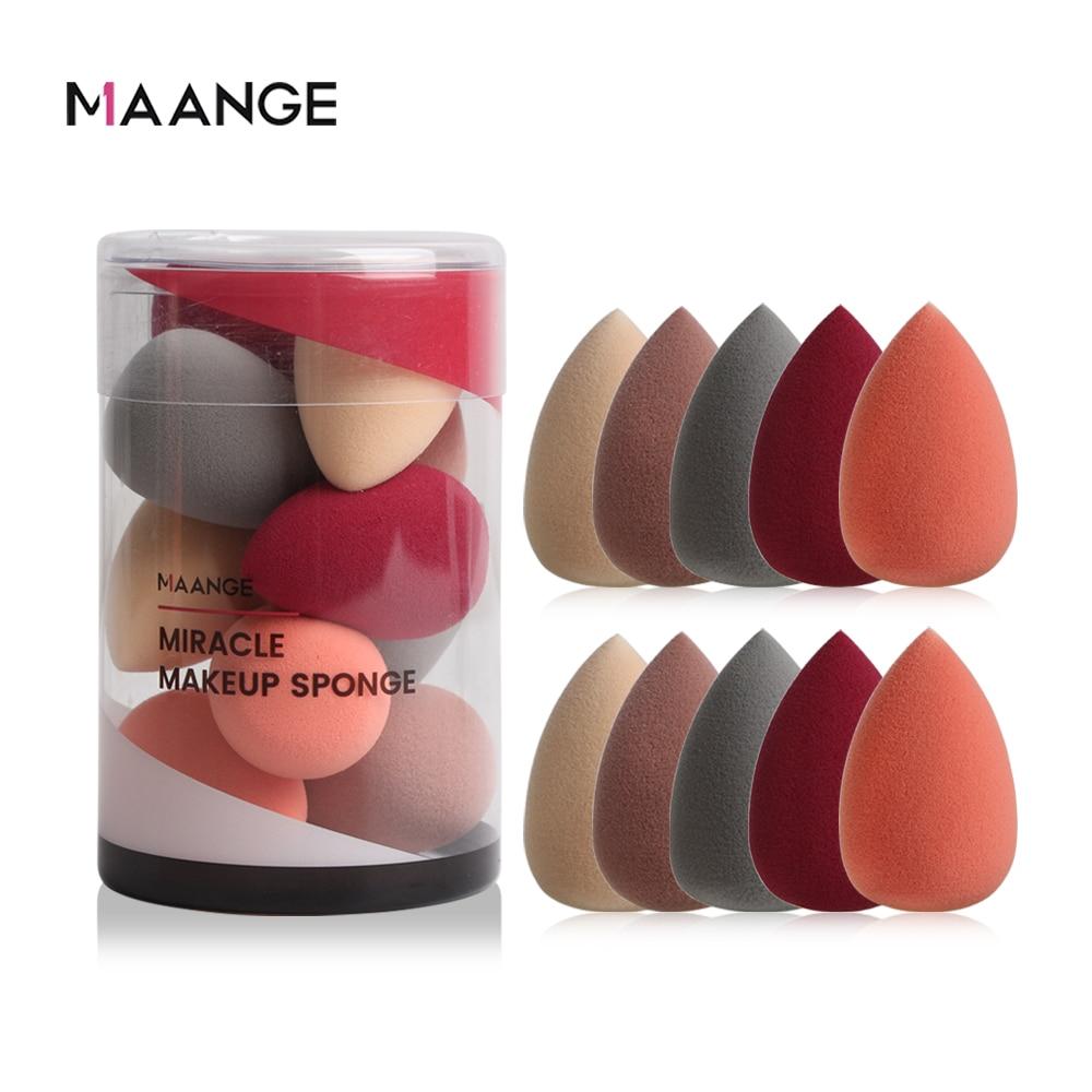 MAANGE 10 Pcs Makeup Foundation Sponge Makeaup Super Soft Mini Cosmetic Puff Powder Beauty Cosmetic Make Up Sponge Puff New