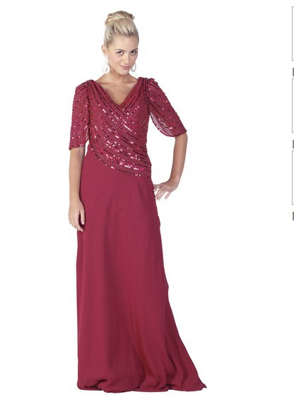 2016 Sequined Actual Images Cap Sleeve New Style Formal Evening Long Ball Gowns Modest With Sleeves Mother Of The Bride Dresses