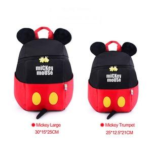 Disney 3D 1-5 Years Old Children Backpacks Mickey Minnie Mouse Kindergarten Schoolbag Kid Anti-lost School Bag Girl Boy Backpack