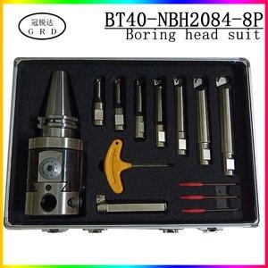 Image 1 - Noioso tool vestito NBH2084 noioso testa BT40 portautensili + 8pcs 20 millimetri Noioso Bar Noioso suonò 8 280mm Attrezzi Per Alesatura Set
