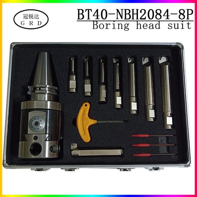 Noioso tool vestito NBH2084 noioso testa BT40 portautensili + 8pcs 20 millimetri Noioso Bar Noioso suonò 8 280mm Attrezzi Per Alesatura Set