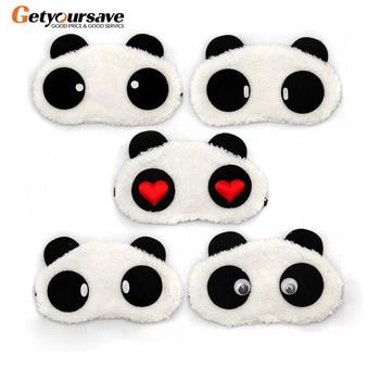 Panda Sleeping Eye Mask Nap Eye Shade Cartoon Blindfold Sleep Eyes Cover Sleeping Travel Rest Patch Blinder