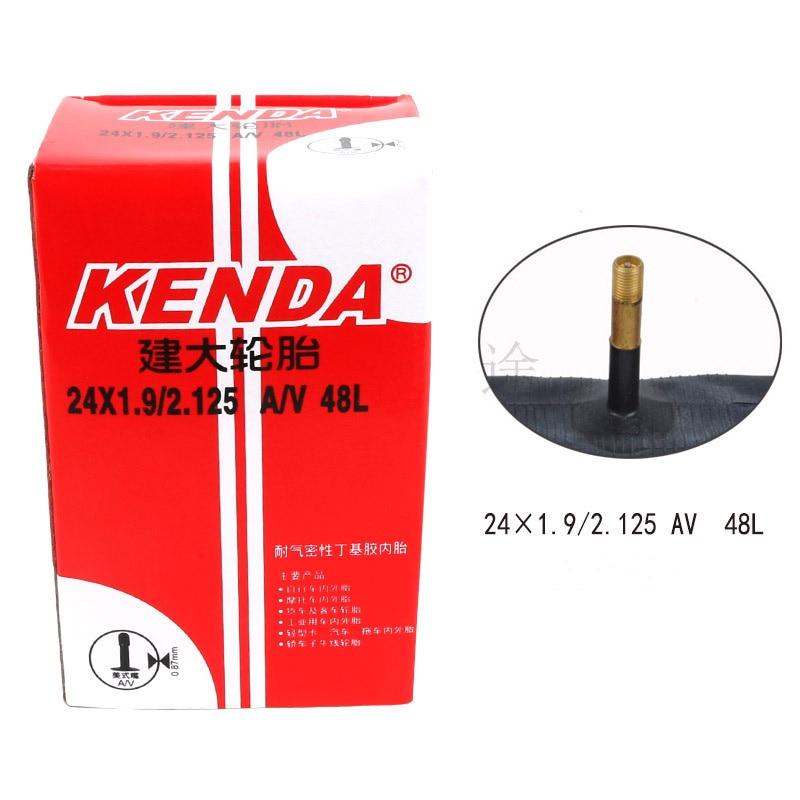 KENDA 24/26/27.5/29 дюймовая внутренняя трубка из бутилкаучука внутренняя трубка AV/FV Расширенный газовый горлышко 48 мм для горных велосипедов Запча...