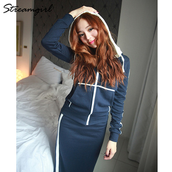 Autumn Winter 2 Piece Outfits For Women Hoodie Sweatshirt Suit Skirt Two Piece Set Top And Skirt Set Tracksuit Women Autumn 8