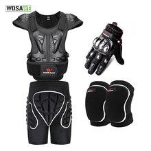 WOSAWE Лыжная Сноубордическая куртка водонепроницаемая ветрозащитная EVA мотоциклетная Броня полное тело мотокросса Защитное снаряжение защита