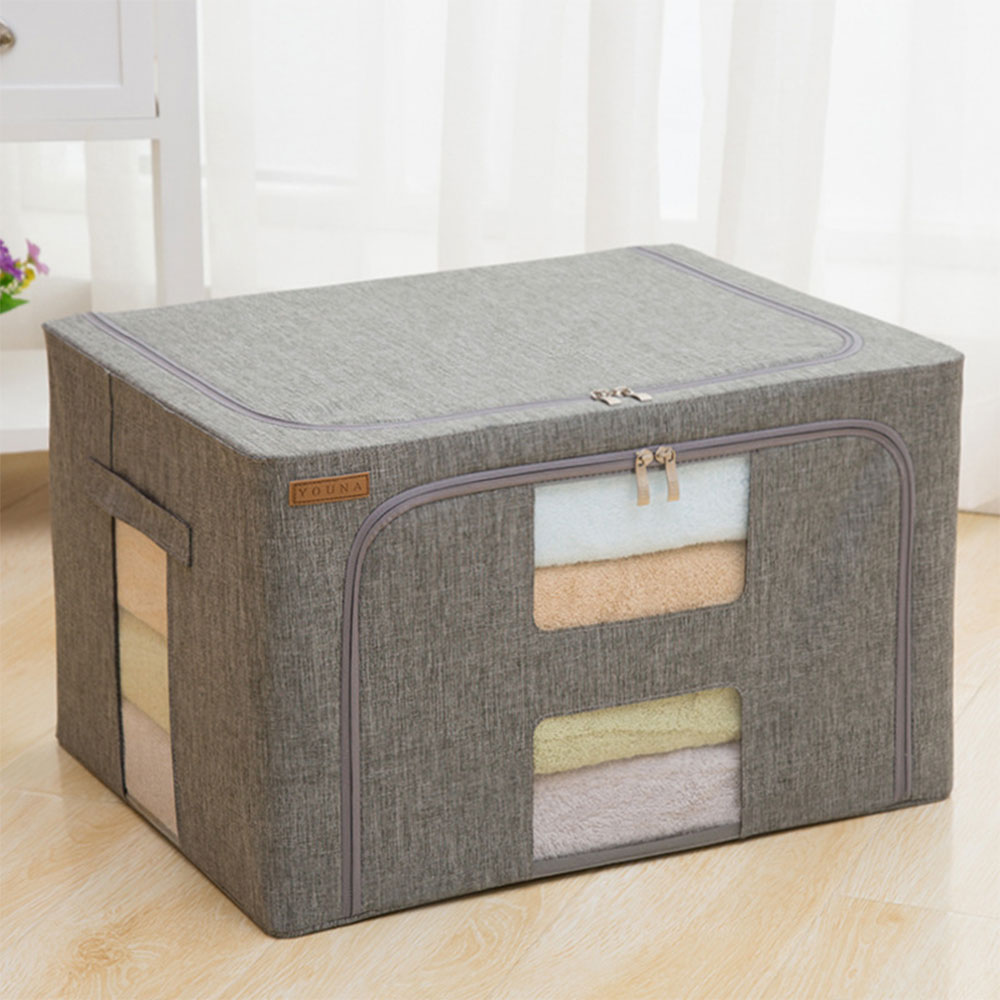 843.34руб. 25% СКИДКА|20л водонепроницаемый оксфордская ткань домашняя коробка для хранения новая стальная рама одежда стеганая коробка для хранения Складная Большая емкость коробка для хранения|Ящики и баки для хранения| |  - AliExpress