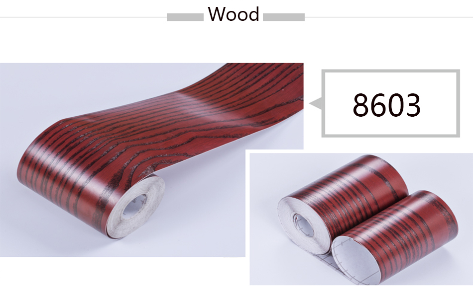 Wood Self Adhesive Window Decal Living Room Floor Border Skirting Contact Paper Waterproof Waist Line Wallpaper Home Improvement H81874eb811ac4cc593768256d0f41327i