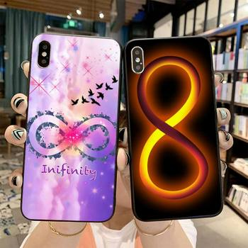 PENGHUWAN Infinity Symbol Cover Black Soft Shell Phone Case for iPhone 11 pro XS MAX 8 7 6 6S Plus X 5S SE 2020 XR case image