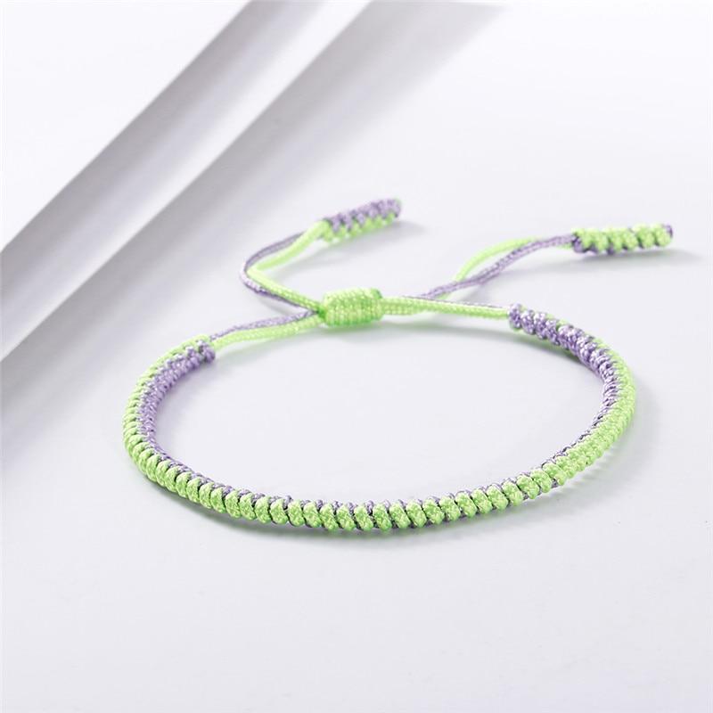 New Handmade Braided Bracelet Tibetan Buddhist Good Lucky Charm Adjustable Knots Rope Bracelets&Bangle Amulet Gift for Women Men