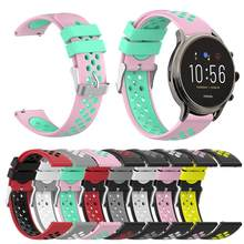 Siliconen Horloge Band voor Fossiele Gen5 Carlyle HR Julianna HR Smart Horloge Strap Vervanging Wrist Band Armband Accessoires(China)