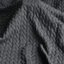 JaneYU Grey-blue Cotton Jacket Fabric For Autumn And Winter Clothing Waistcoat