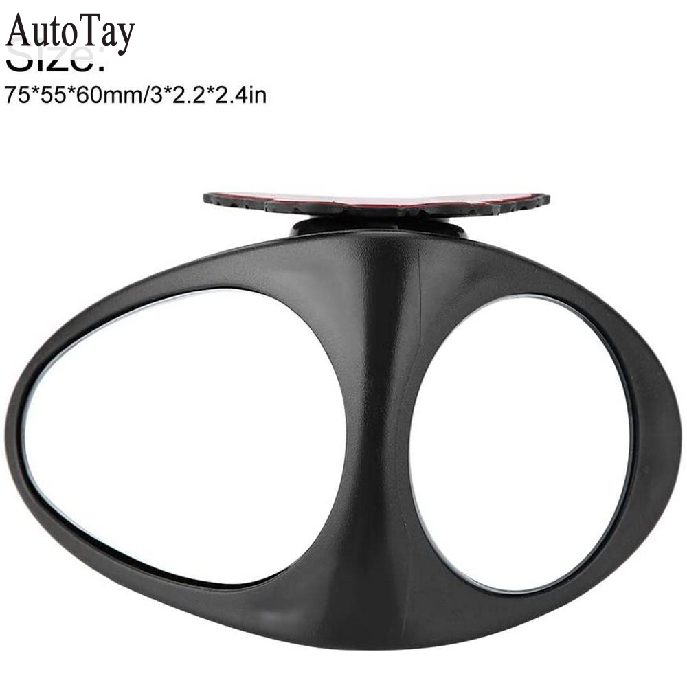 1 Pc 360 Degree Rotatable Car Blind Spot Convex Mirror Automibile Exterior Rear View Parking Mirror Car Safety Accessories