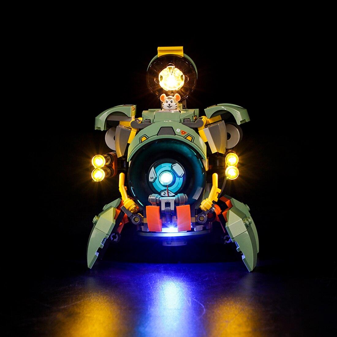 Vonado USB LED Lighting Kit For Overwatch Wrecking Ball 75976(LED Included Only, No Kit) Toy For Children Educational Toys Gift 3