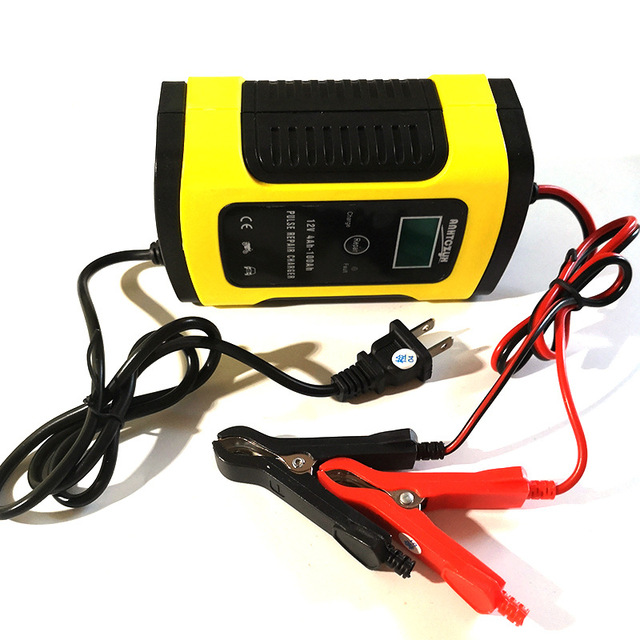 12V 5A Pulse Repair Charger with LCD Display Motorcycle 12V Car Battery Charger AGM GEL WET Lead Acid Battery PB Battery Charger