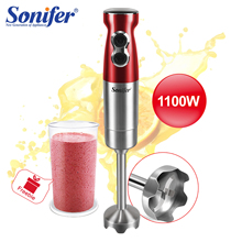 1100W High Power Food Mixer 2 Speeds Hand Blender Electric Four-blade Ice Crushing Kitchen Vegetable Fruit Stirring Gift Sonifer