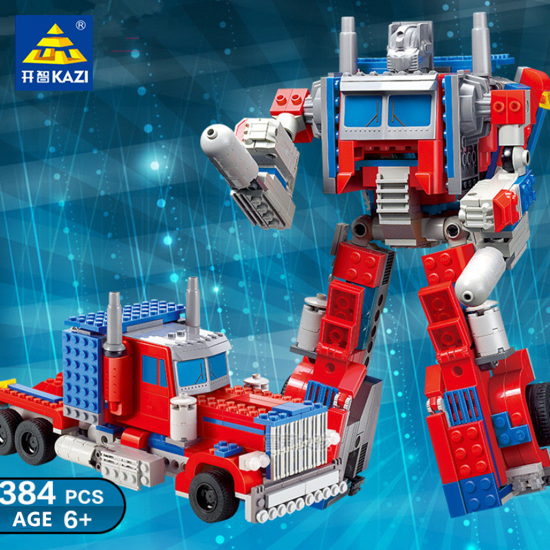 384Pcs Transformation Robot Toy Truck War Kids Bricks City Building Blocks Sets Playmobil Educational Toys For Children
