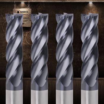 Fresadora cortadora de Metal HRC50 4 flauta fresa 4mm 5mm 6mm 8mm 10mm 12mm herramientas de fresado Carburo de aleación molino final envío gratis
