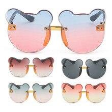 แว่นตากันแดดเด็กแฟชั่นเด็กแว่นตากันแดดแว่นตาอินเทรนด์สาวเด็กชายน่ารักการ์ตูนหมีแว่นตากันแดด Anti Glare UV400แว่นตา