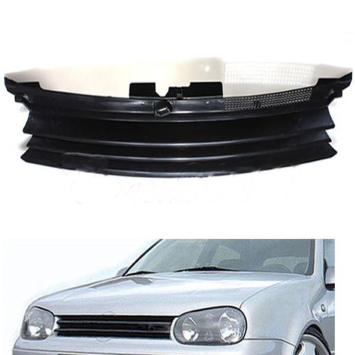 Badgeless Debadged Front Sports Grille Grill plastik ABS dla VW GOLF 4 MK4 1997 1998 1999 2000 2001 2002 2003 2004