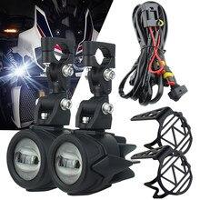 Feux auxiliaires pour motos, phares antibrouillard, pour BMW R1200GS, F800GS, F700GS, F650, K1600, 40 W, 6000K