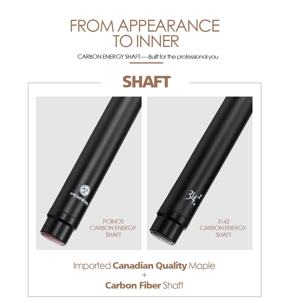 PREOAIDR POINOS Carbon Fiber Shaft Billiard Pool Cue Stick 10.8//11.75//13mm SALE