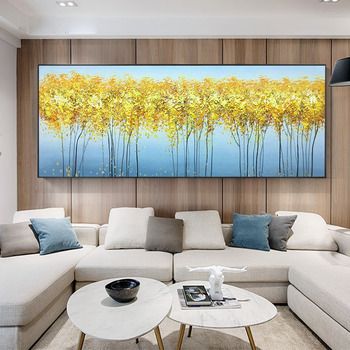 Pure hand-painted Abstract Oil Painting Bedside Pachira Living Room Sofa Backdrop Mural Hanging Light Luxury Scandinavian Style