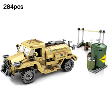 284pcs Canada CMP C15A legoingly ww2 Military Pattern truck Minifigs Figures World War Army Vehicle Building Block Kids Toy Gift oenux new 6pcs ww2 soviet army figures military building block set the battle of moscow army military scenes toy for kids gifts
