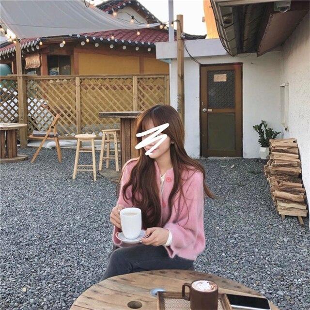 женские норковые кашемировые кардиганы осень зима корейские фотография