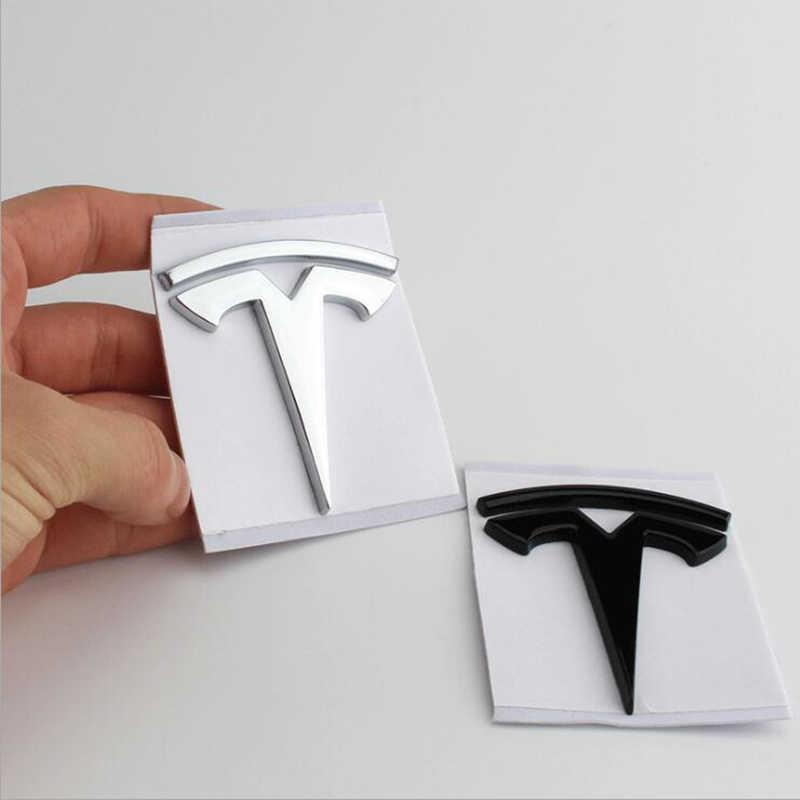 Автомобильная 3D металлическая наклейка для Tesla модель 3 X S логотип автомобиля задний багажник эмблема значок окно тело декоративные переводные наклейки аксессуары