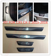 Hot Selling Car Styling Accessories  Door Sill Scuff Plate Welcome Pedals Stainless Steel FIT For CX5 CX-5 2013-2016 car