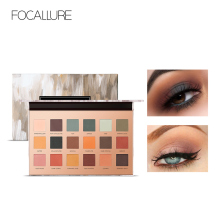 FOCALLURE 18 Colors Shimmer Matte Eye Shadow Palette Glitter Eyeshadow Makeup Natural Colorful Eyeshadow Powder Lasting focallure 18 colors shades eyeshadow highlighter glitter and matte smoky eyeshadow palette blush