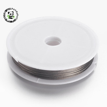 50m/Roll 0.45mm Resistant Strong Line Nylon-coated Stainless Steel Wire Tiger Tail Beading Wire For Jewelry Making Finding