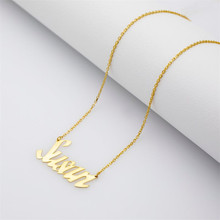 HIYONG Personalized Name Gold Silver Necklace for Women Chain Pendant Necklaces Choker Custom Necklace Jewelry Gifts for Her hiyong custom crown name necklace personalized silver rose gold chain nameplate choker christmas gift necklaces jewelry