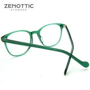 Image 4 - Zenottic Paars Retro Bril Frame Vrouwen Optische Clear Brillen Frame Bijziendheid Verziendheid Vintage Bril Frame