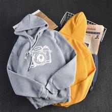 2019 Women Letter Heart Sweatshirts Sudadera Mujer Jumper Tops Long Sleeves Sweatshirt Korean Ulzzang Harajuku Hooded Pullover white hooded design letter pattern long sleeves croped sweatshirt