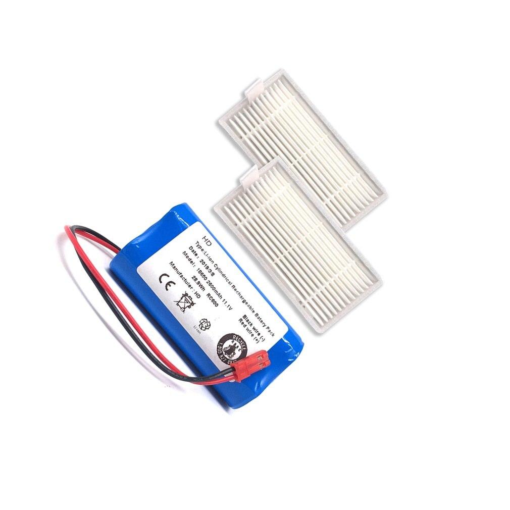 Rechargeable For ILIFE Battery+Brush Filter 11.1V 2600mAh Robotic Vacuum Cleaner Accessories For Chuwi Ilife V3 V5 V5S V5SPRO