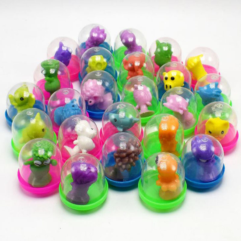 10 Pcs/set Cute Mini Strange Suckers Animal Surprise Egg Capsule Egg Ball Model Puppets Funny Toy for Kids Toys Gifts