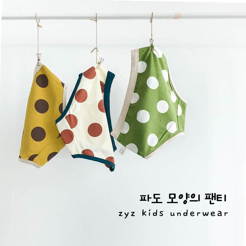 3-10y kids underwear for baby boy cotton child boxers pants panties dots print N002