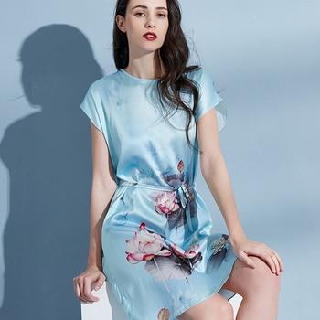 Ladies Hangzhou Real Silk Robe Nightgown Women Luxury Pure Silk Bedgown 2020 Sleepwear Natural Silk Nightdress Robes Large Size