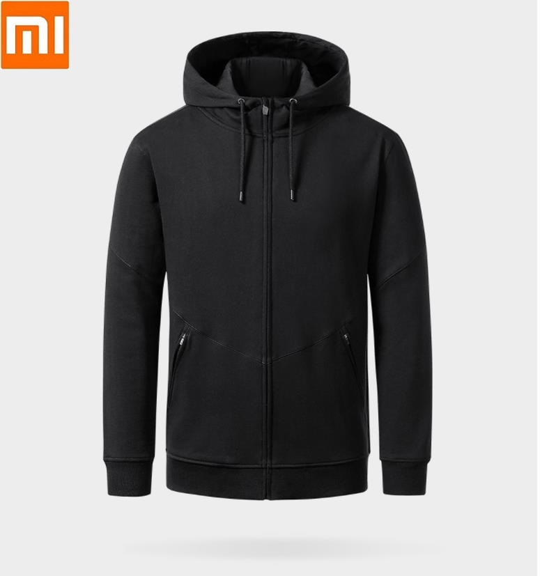 Xiaomi Uleemark Casual Men's Hooded Zip Cardigan Strong Fabric No Ball Long Men Zipper Sleeve Spring Autumn Coat Sportswear