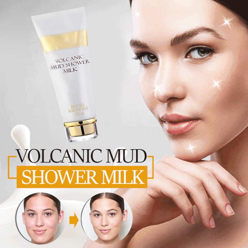 Healthy Formulas Whitening Volcanic Mud Bath Milk Cream Body Wash Deep Clean Exfoliating Moisturizing Body Lotion For Men Women