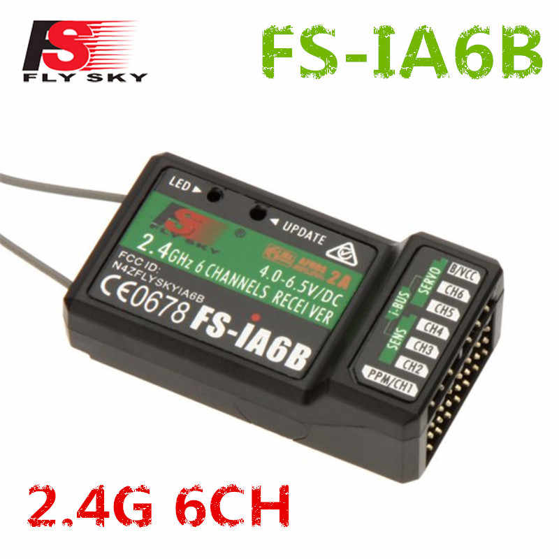 FLYSKY iA6B 2.4G 6CH PPM Output With iBus Port Receiver For FLYSKY FS-i6 FS-i10 i6X i6S Airplane FPV Racing Drone Transmitter