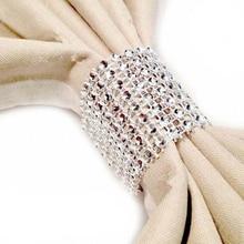 Золотые, серебряные пряжки для салфеток, кольца для салфеток, пряжки для стульев, полые, 8 строк, сетка, алмазная пряжка для салфеток, свадебный фестиваль, товары для еды в отеле