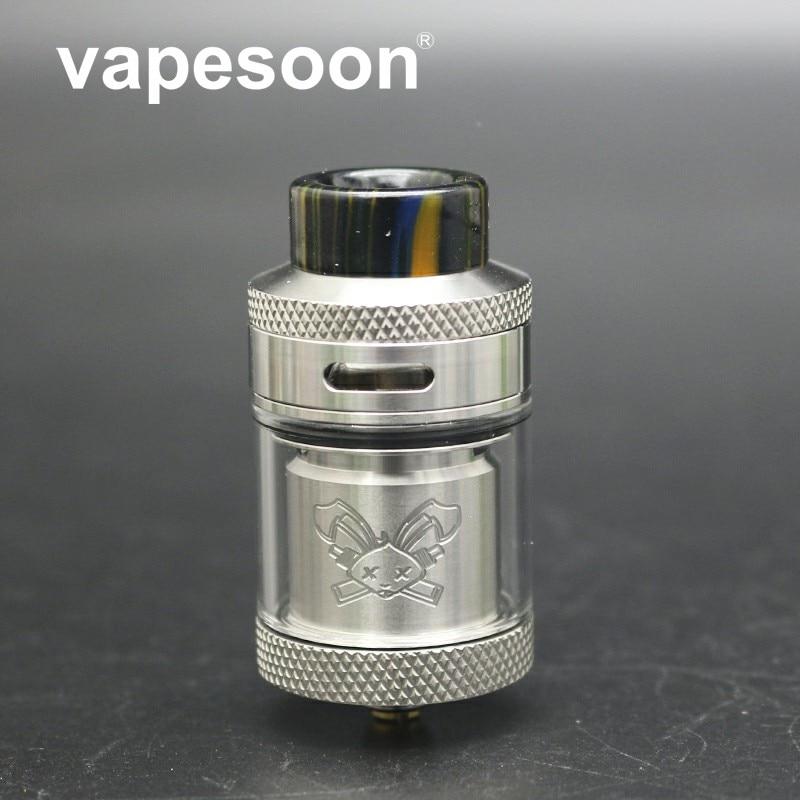 VapeSoon le plus récent lapin mort 25mm RTA 2 ML/4.5 ML atomiseur avec pointe d'égouttement en résine simple/double bobine reconstruire Vape vaporisateur noir et argent